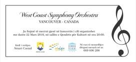Të enjten: Koncerti i Orkestrës Simfonike të Kanadasë – Vancouver