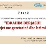 Veprimtari kulturore: IBRAHIM BERJASHI – 50 vjet me gazetarinë dhe letërsinë